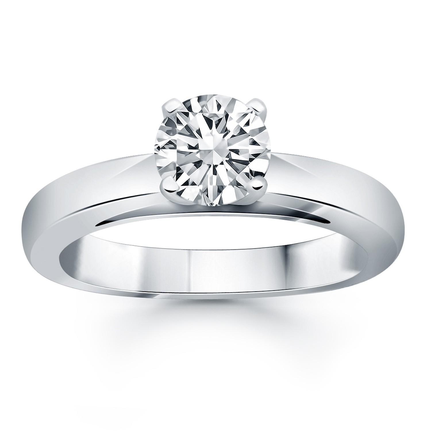 engagement ring diamond solitaire b thick w r in wide princess white cut gold rings product band