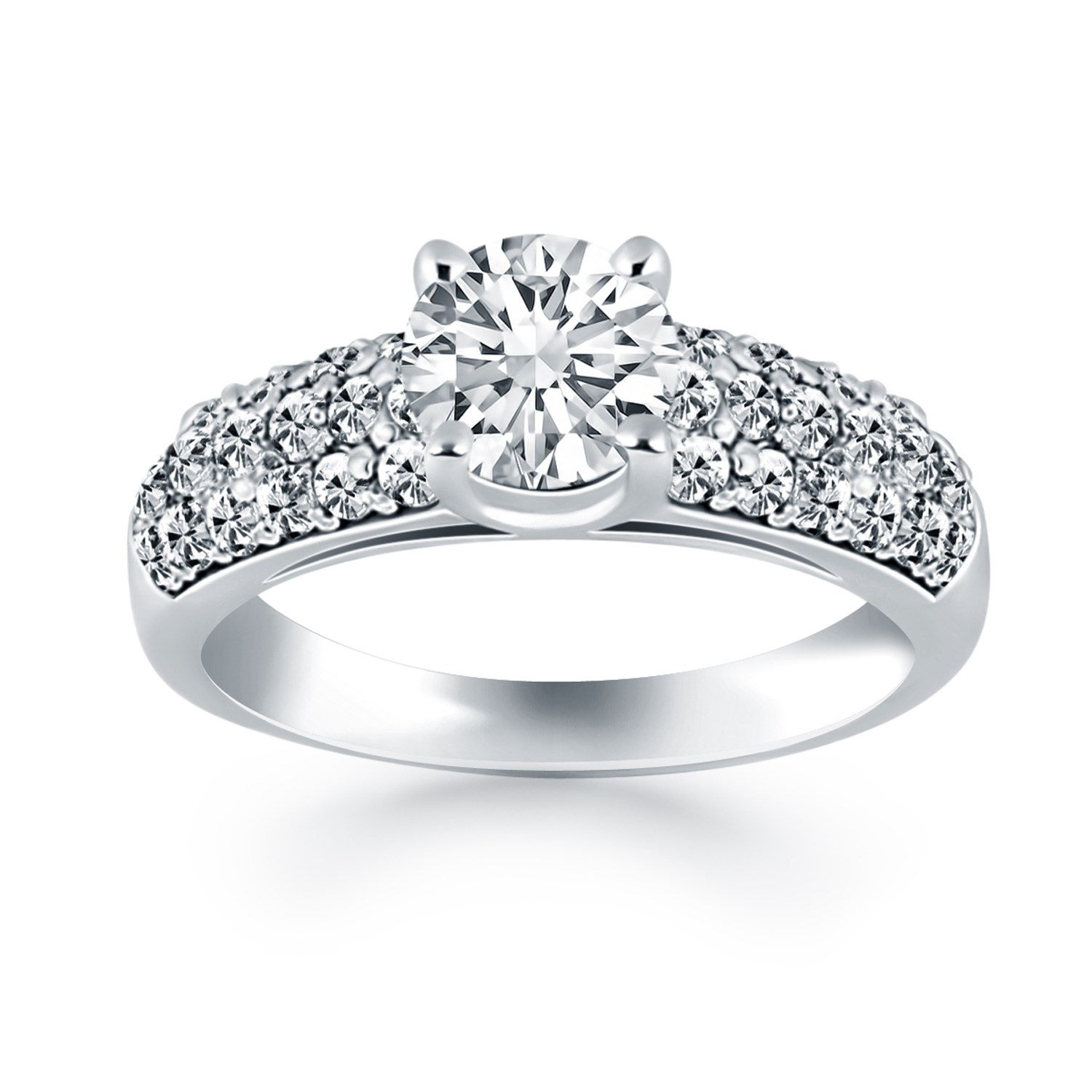 ring princess full band bands wedding cut luxury download rings wide engagement size elegant diamond new
