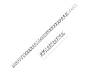 Sterling Silver Rhodium Plated Curb Chain (7.3 mm)