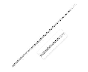 Sterling Silver Rhodium Plated Greek Box Chain (5.5 mm)