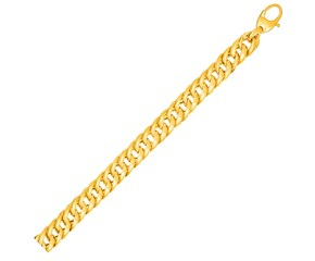 Cuban Link Bracelet in 14k Yellow Gold