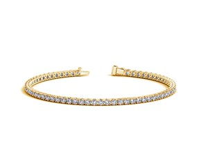 Round Diamond Tennis Bracelet in 14k Yellow Gold (3 cttw)