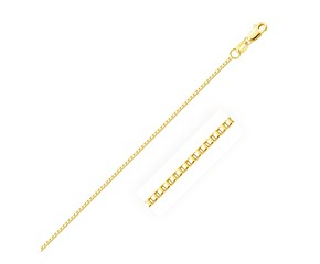 Octagonal Box Chain in 10k Yellow Gold (1.2 mm)