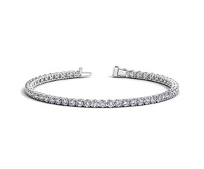 Round Diamond Tennis Bracelet in 14k White Gold (5 cttw)