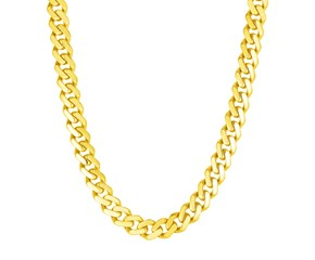 14k Yellow Gold 22 inch Polished Curb Chain Necklace