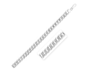 Sterling Silver Rhodium Plated Curb Chain (9.3 mm)