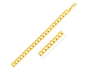 Solid Curb Bracelet in 14k Yellow Gold (11.23mm)