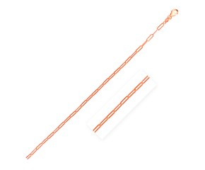 14K Rose Gold Delicate Paperclip Chain (2.1mm)