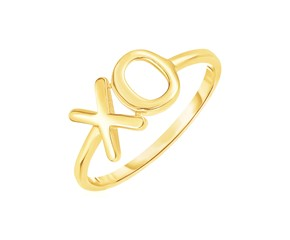 14k Yellow Gold with XO