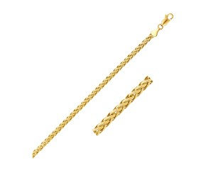 Semi Solid Box Chain in 14k Yellow Gold (2.0 mm)