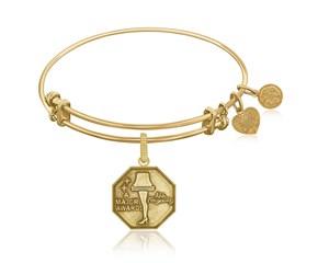 Expandable Yellow Tone Brass Bangle with Leg Lamp AKA A Major Award Symbol