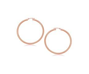 Classic Hoop Earrings in 14K Rose Gold (25mm Diameter) (3.0mm)