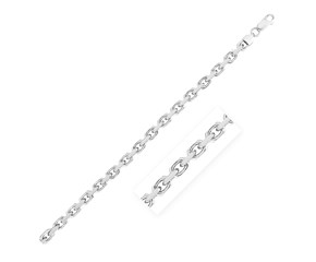 Sterling Silver Rhodium Plated Anchor Chain (6.2 mm)