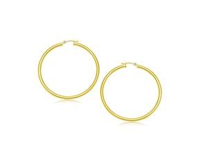 Classic Hoop Earrings in 10K Yellow Gold (25mm Diameter) (3.0mm)
