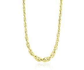 Singapore Chain Style Necklace in 14K Yellow Gold