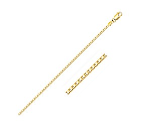 Semi Solid Box Chain in 14k Yellow Gold (1.6 mm)