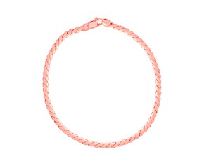 14K Rose Gold Twisted Link Bracelet