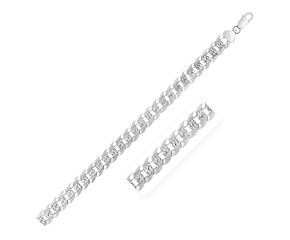 Sterling Silver Rhodium Plated Curb Chain (11 mm)