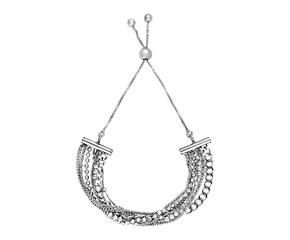 Adjustable Multi Chain Bracelet in Sterling Silver