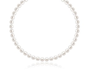 White Freshwater Cultured Pearl Necklace in 14k Yellow Gold (6.0mm to 6.5mm)