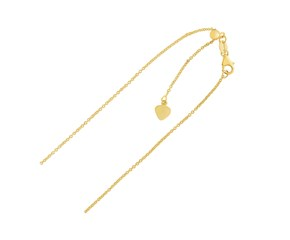 Adjustable Cable Chain in 14k Yellow Gold (1.0mm)
