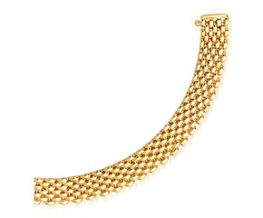 Flexible Panther 9.0mm Line Bracelet in 14k Yellow Gold