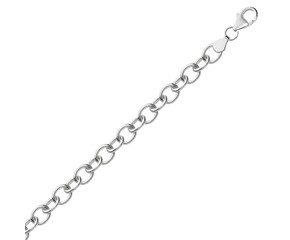 Simple Rhodium Plated Bracelet in Sterling Silver
