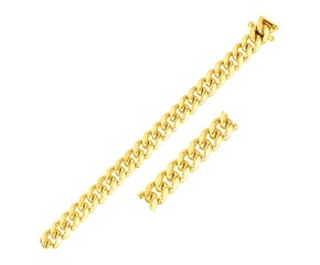 Classic Miami Cuban Bracelet in 14k Yellow Gold (8.25mm)