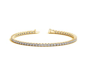 Round Diamond Tennis Bracelet in 14k Yellow Gold (4 cttw)