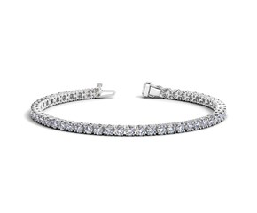 Round Diamond Tennis Bracelet in 14k White Gold (6 cttw)