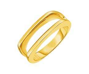 14k Yellow Gold Open Crown Ring