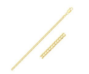 Curb Link Anklet in 14k Yellow Gold (2.5 mm)
