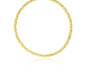 Byzantine Motif Necklace in 14K Yellow Gold