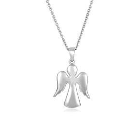 Sterling Silver Polished Angel Pendant