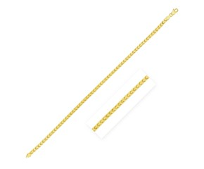 Solid Diamond Cut Round Franco Chain in 14k Yellow Gold (4.0mm)