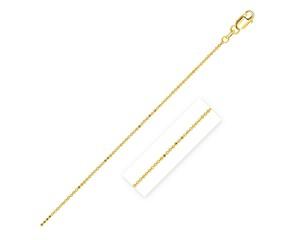 Diamond Cut Bead Chain in 14k Yellow Gold (1.0 mm)