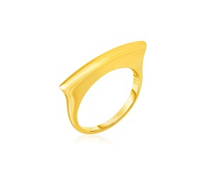 14k Yellow Gold Polished Bar Ring