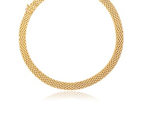 Flexible Panther 9.0mm Line Necklace in 14k Yellow Gold