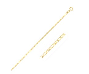 Figaro Anklet in 14k Yellow Gold (1.9 mm)