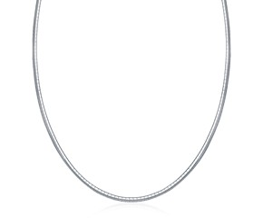 Classic Style Omega Chain Necklace in Sterling Silver (3.0mm)