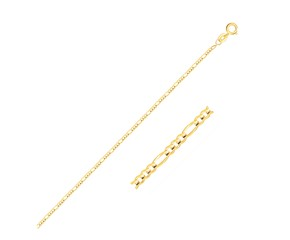 Figaro Anklet in 14k Yellow Gold (1.3 mm)