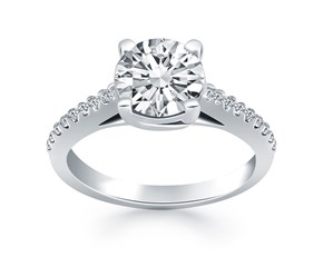 Trellis Diamond Engagement Ring in 14k White Gold