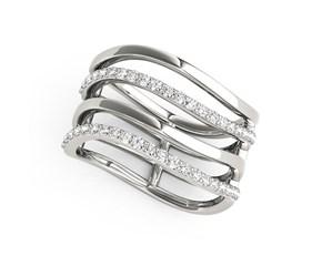 Multi-Band Diamond Ring in 14K White Gold (3/8 ct. tw.)