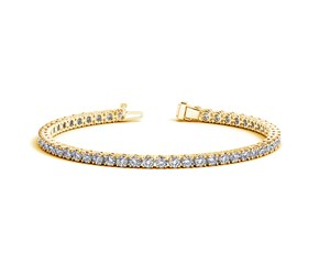 Round Diamond Tennis Bracelet in 14k Yellow Gold (6 cttw)