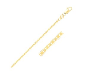Mariner Link Anklet in 14k Yellow Gold (1.7 mm)