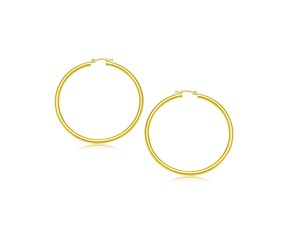 Classic Hoop Earrings in 14k Yellow Gold (25mm Diameter) (3.0mm)