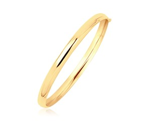 Polished Dome Children's Bangle in 14k Yellow Gold