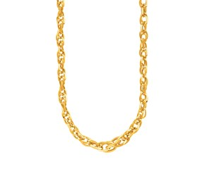 Fancy Prince of Wales Chain Necklace in 14k Yellow Gold