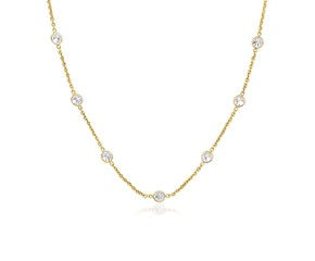 CZ By the Yard Long Links in 14k Yellow Gold