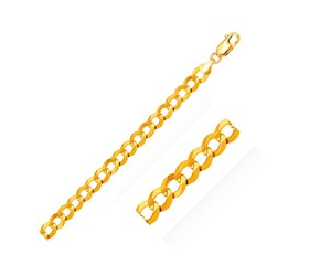 Solid Curb Bracelet in 14k Yellow Gold (10.0mm)